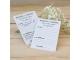 Tarjeta mensajes personalizable boda
