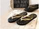 Flip Flop negras-doradas Talla M