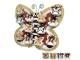 Set 12 cajitas mariposa otoño