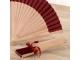 Detalle de boda abanico tela granate 23 cm