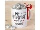 Taza cerámica Mi Mamá Mola en caja regalo + 6 bombones