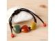 Pulsera ajustable con piedras corazones de colores