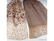 Foulard estampado animal marrón/beige 50x160cm