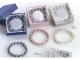 Pulsera perlas cristal colores en caja surtida