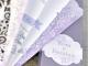 Invitación de boda abanico corte láser