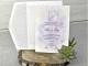 Invitación de boda tonos lilas