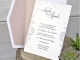 Invitación de boda corte láser