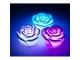 Flor led en forma de rosa