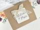 Invitación de boda detalles con acuarelas