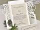 Invitación de boda árbol corte láser