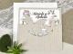 Invitación de boda vintage mariposas