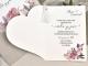 Invitación de boda corazón en relieve