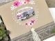 Invitación de boda furgoneta con flores