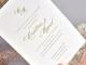 Invitacion de boda flores laser