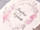 Invitacion de boda pergamino flores