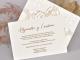 Invitacion de boda crema laser